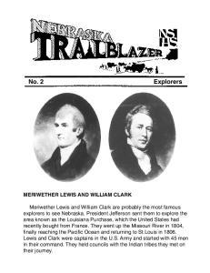 No. 2 Explorers MERIWETHER LEWIS AND WILLIAM CLARK