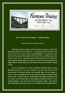 No. 4. The Atlantic Coast Express Southern Railway