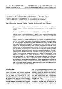 No association between measures of immunity in nestling pied flycatchers (Ficedula hypoleuca)