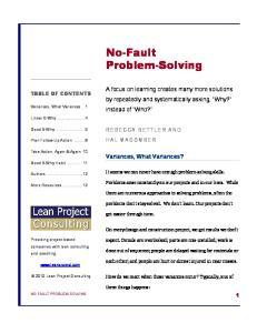 No-Fault Problem-Solving
