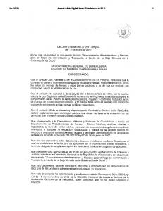 No Gaceta Oficial Digital, lunes 28 de febrero de