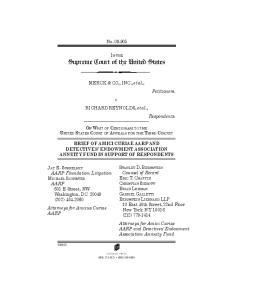 No IN THE Supreme Court of the United States. MERCK & CO., INC., et al., v. RICHARD REYNOLDS, et al.,