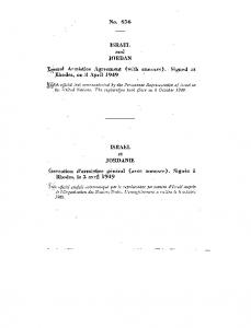 No ISRAEL and JORDAN. ^General Armistice Agreement (with annexes). Signed at