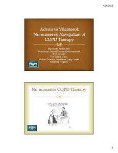 No-nonsense COPD Therapy