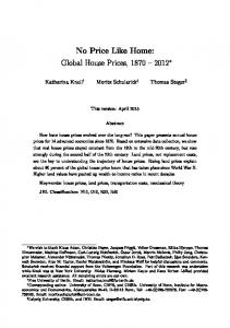 No Price Like Home: Global House Prices,
