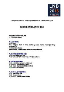 NOCHE EN BLANCO 2015