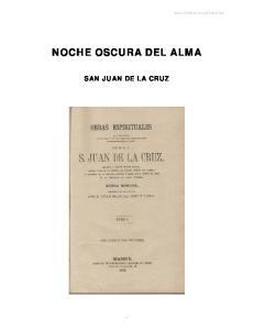 NOCHE OSCURA DEL ALMA