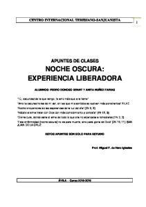 NOCHE OSCURA: EXPERIENCIA LIBERADORA