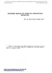 NOCIONES BASICAS DE DERECHO URBANISTICO MEXICANO