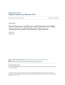 Noise Exposure in Electric and Natural Gas Utility Transmission and Distribution Operations