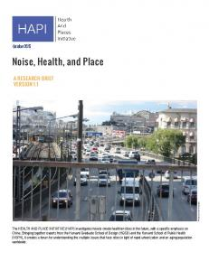 Noise, Health, and Place