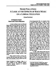 NOISE POLLUTION: A LOOK AT THE EFFECTS OF ROCK MUSIC