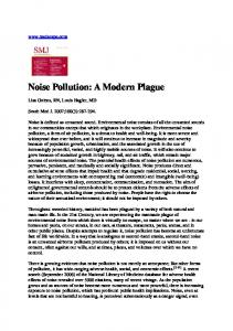 Noise Pollution: A Modern Plague
