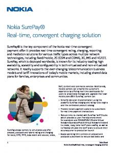 Nokia SurePay Real-time, convergent charging solution