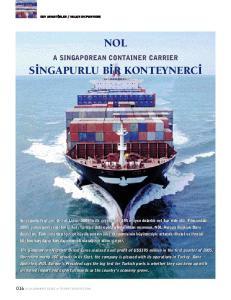 NOL A SINGAPOREAN CONTAINER CARRIER S NGAPURLU B R KONTEYNERC