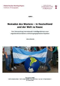 Nomaden des Westens in Deutschland und der Welt zu Hause