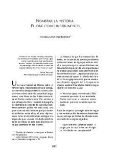 NOMBRAR LA HISTORIA. EL CINE COMO INSTRUMENTO