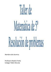 Nombre del alumno: Profesora Noelia Freita Colegio Pablo Neruda