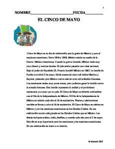 NOMBRE FECHA EL CINCO DE MAYO