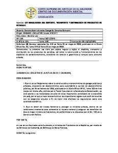 Nombre: LEY REGULADORA DEL DEPOSITO, TRANSPORTE Y DISTRIBUCION DE PRODUCTOS DE PETROLEO
