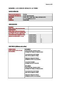 NOMBRE: LUIS CARLOS SÁENZ DE LA TORRE