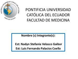 Nombre (s) Integrante(s): Est: Nadyn Stefania Velasco Gaibor Est: Luis Fernando Palacios Coello