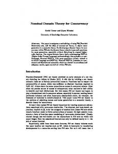 Nominal Domain Theory for Concurrency