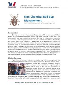 Non-Chemical Bed Bug Management