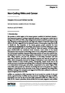 Non-Coding RNAs and Cancer