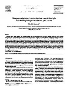 Non-gray radiative and conductive heat transfer in single and double glazing solar collector glass covers