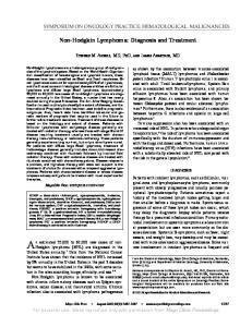 Non-Hodgkin Lymphoma: Diagnosis and Treatment