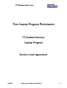 Non-Laptop Program Participants