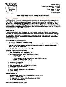 Non-Medicare Plans Enrollment Packet