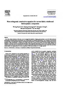 Non-orthogonal constitutive equation for woven fabric reinforced thermoplastic composites