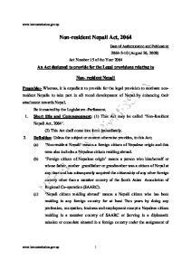 Non-resident Nepali Act, 2064