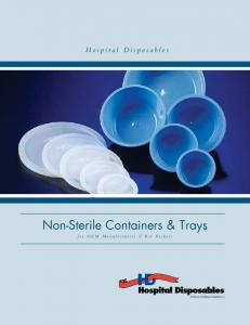 Non-Sterile Containers & Trays
