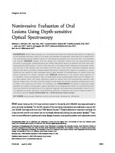 Noninvasive Evaluation of Oral Lesions Using Depth-sensitive Optical Spectroscopy