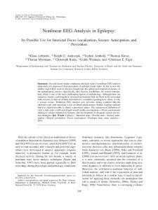 Nonlinear EEG Analysis in Epilepsy: