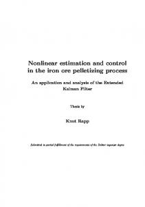 Nonlinear estimation and control in the iron ore pelletizing process