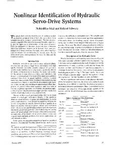 Nonlinear Identification of Hydraulic Servo-Drive Systems