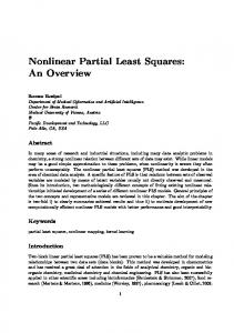 Nonlinear Partial Least Squares: An Overview