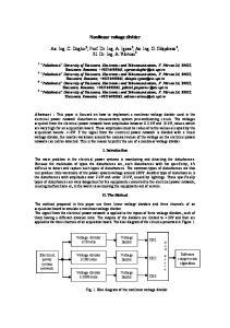 Nonlinear voltage divider