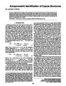 Nonparametric Identification of Copula Structures