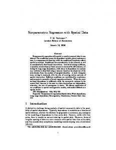 Nonparametric Regression with Spatial Data