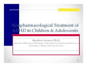 Nonpharmacological Treatment of ADHD in Children & Adolescents