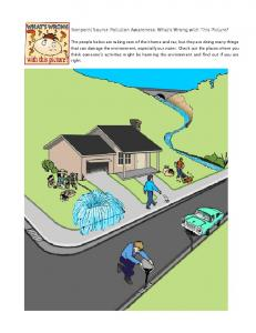 Nonpoint Source Pollution Awareness: What's Wrong with This Picture?