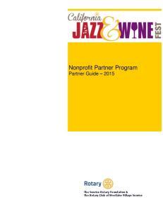 Nonprofit Partner Program Partner Guide 2015