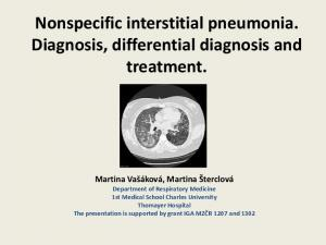 Nonspecific interstitial pneumonia. Diagnosis, differential diagnosis and treatment