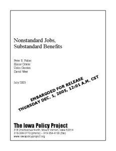 Nonstandard Jobs, Substandard Benefits