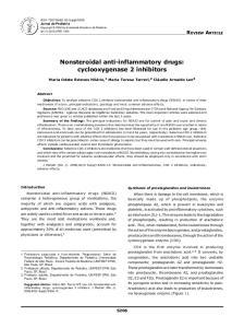 Nonsteroidal anti-inflammatory drugs: cyclooxygenase 2 inhibitors